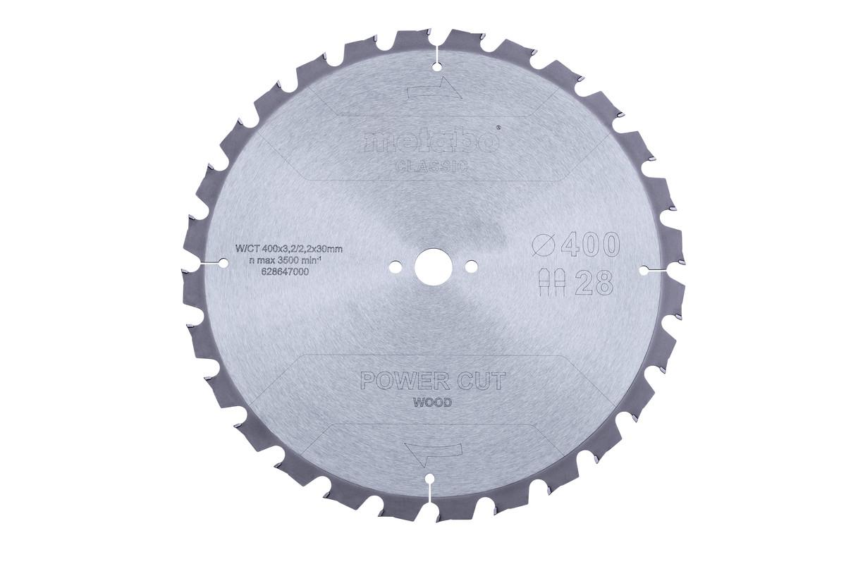 Lame de scie « power cut wood - classic », 400x3,2/2,2x30 Z28 TZ 15° (628647000)