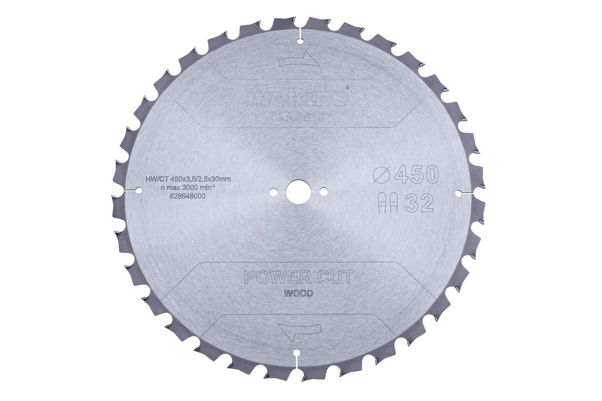 Lame de scie « power cut wood - classic », 450x3,5/2,5x30 Z32 TZ 15° (628648000)