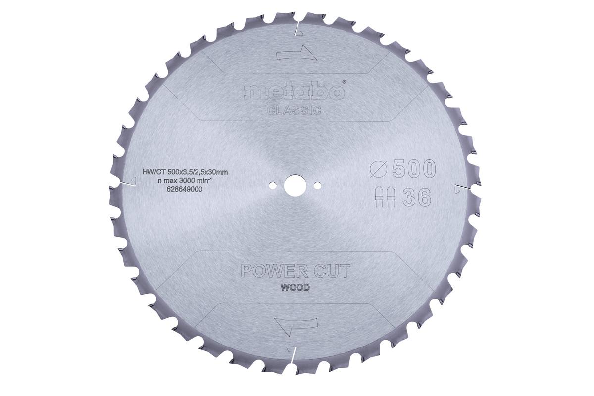 Lame de scie « power cut wood - classic », 500x3,8/2,8x30 Z36 TZ 15° (628649000)
