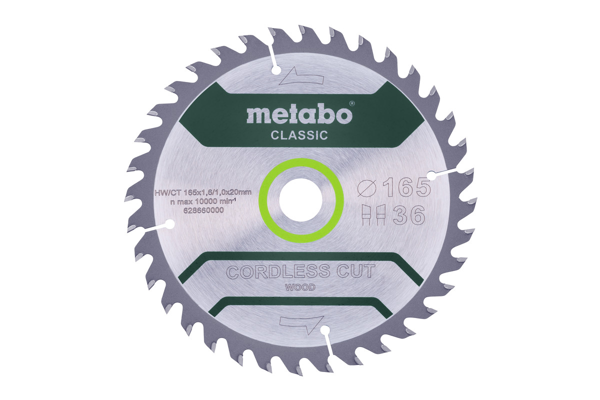 "Lama ""cordless cut wood - classic"", 165x20 Z36 WZ 15° /B (628660000)"
