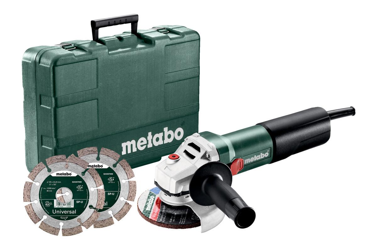 WQ 1100-125 Set (610035540) Meuleuses d'angle