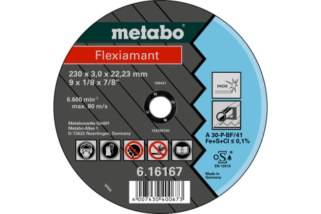 Flexiamant, 180x3,0x22,23, inox, TF 42 (616299000)