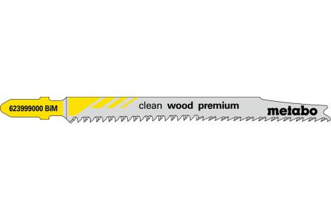 5 lame per seghetti alternativi, legno, profess. 90/2.5 mm (623999000)