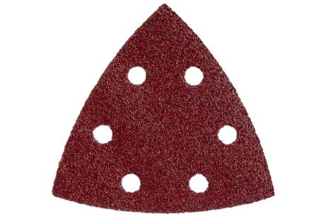 25 feuilles abrasives auto-agrippantes 93 x 93 mm, P 180, B+M, pour ponceuse à patin triangulaire (624985000)