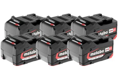 Set de 6 x batteries Li-Power 18 V/5,2 Ah (625152000)