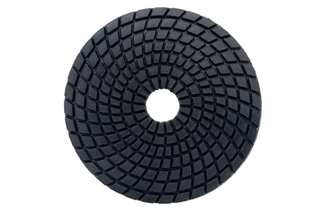 5 disques à polir auto-agrippants diamantés, Ø 100 mm, buff black, pour application sous eau (626146000)