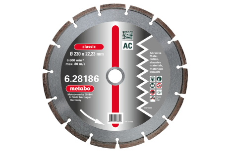 """Disco diamantato per troncare, 300x3,2x20,0/22,23/25,4mm, """"classic"""", """"AC"""", abrasivi (628187000)"""