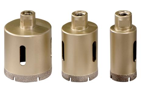 Set de couronnes diamantées pour carrelage «Dry», 3 pièces, M14 (628322000)