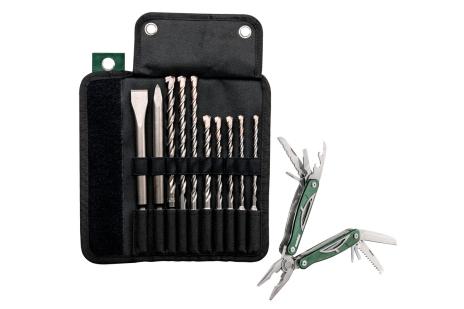 Sacoche à roulettes avec forets / burins SDS-Plus Pro 4, set de 10 pcs (631690000)