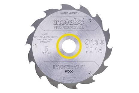Lame de scie « power cut wood - professional », 190x30, Z14 WZ 25° (628005000)