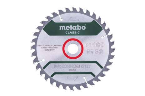 "Lama ""precision cut wood - classic"", 160x20 Z36 WZ 10° (628278000)"
