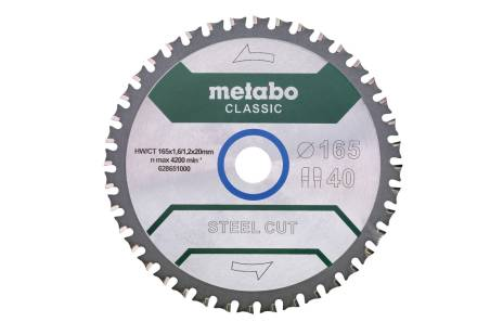 Lame de scie « steel cut - classic », 165x20 Z40 FZFA/FZFA 4° /B (628651000)