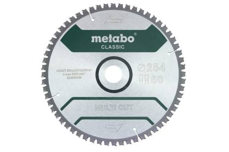 Lame de scie « multi cut - classic », 254x30 Z60 FZ/TZ 5°nég. /B (628666000)
