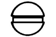 1 embout tête fendue 0,5 x / 89 mm (624381000)