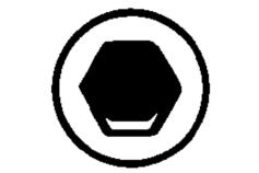 1 inserto esagonale AC 2 / 89 mm (624450000)