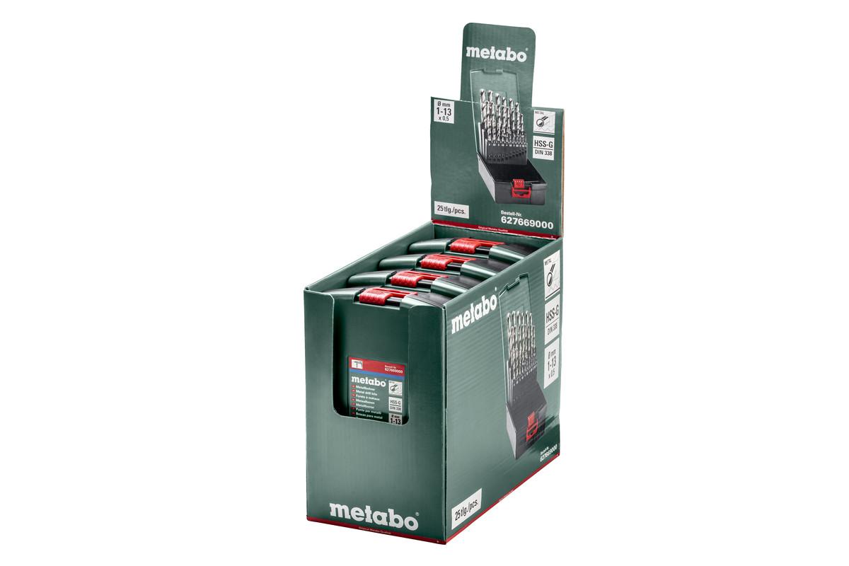 "25-teilig /""SP/"" Metabo HSS-G-Kunststoffkassette 627669000"