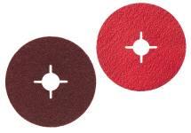 Discos abrasivos em fibra