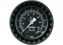 Accessories for tyre inflators complete with pressure gauges