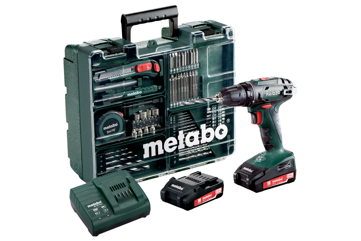 bs 18 set 602207880 cordless drill screwdriver metabo power tools. Black Bedroom Furniture Sets. Home Design Ideas