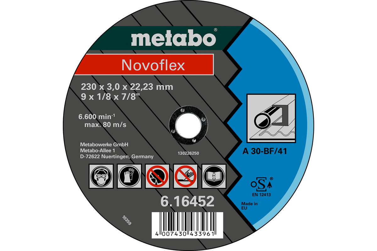 Novoflex 125x2,5x22,23 acero, TF 41 (616444000)