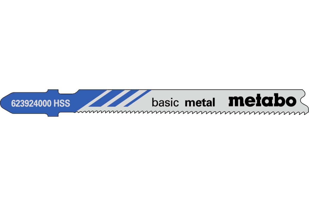 5 Jigsaw blades, metal, classic, 66 mm/progr. (623924000)