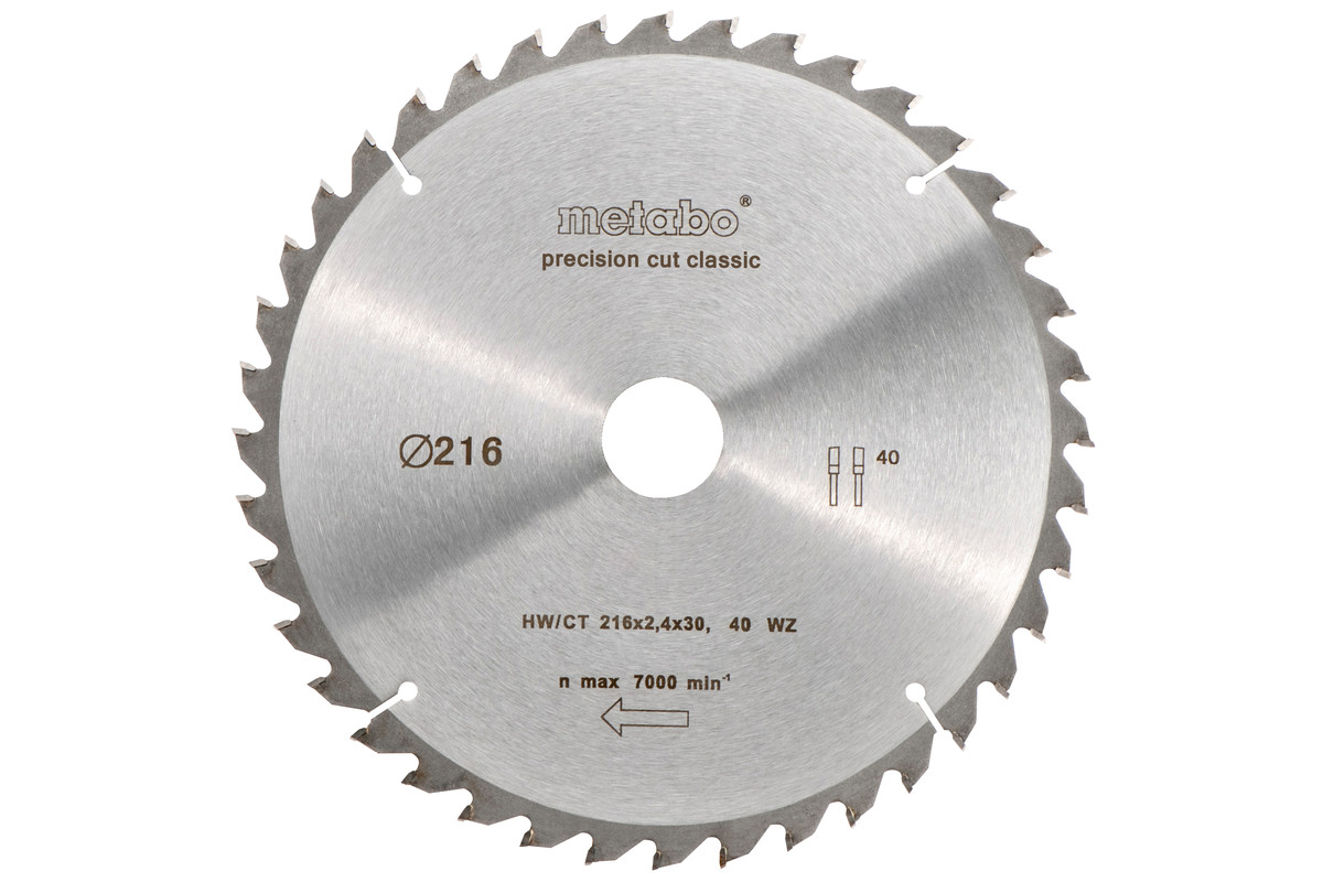 Circular saw blade HW/CT 216 x 30, 30 WZ 22° (628062000)