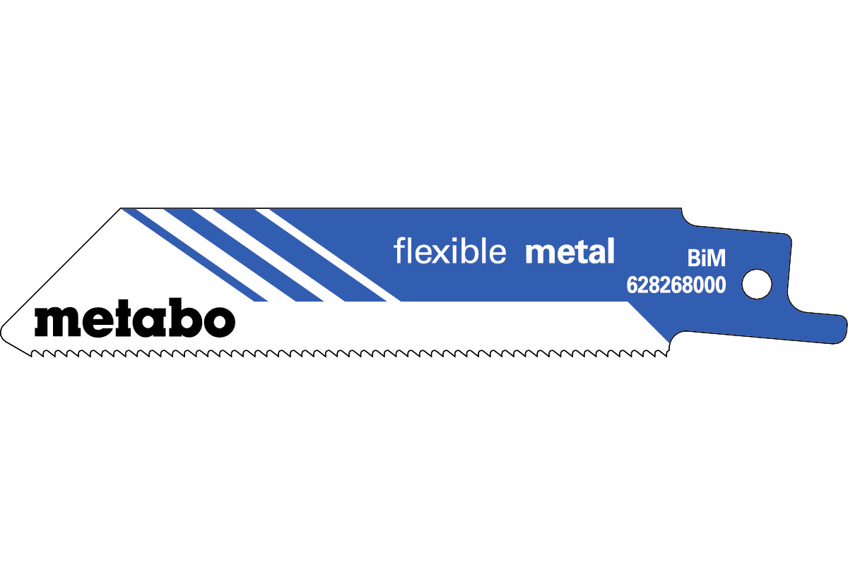 5 Sabre saw blades,metal,flexible,100 x 0.9 mm (628268000)