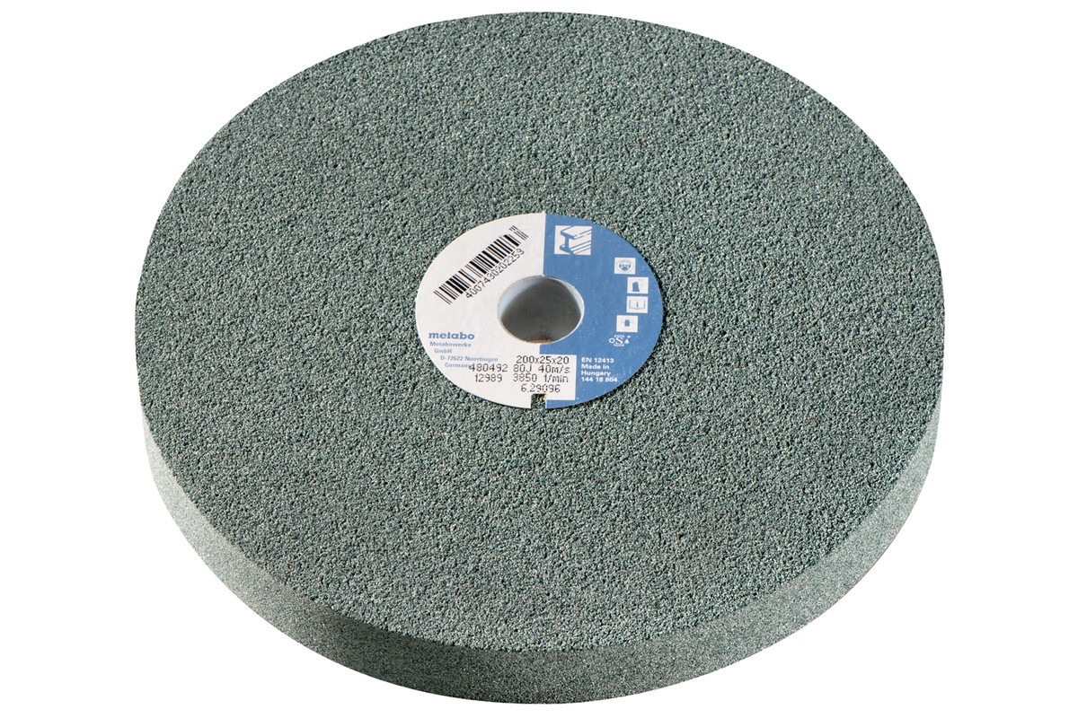 Grinding wheel 175 x 25 x 32 mm, 80 J, sil.carb., DGs (629104000)