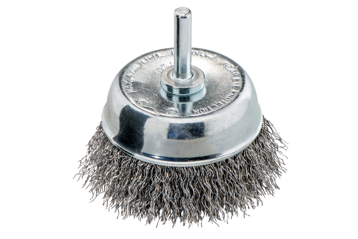 Cup brush 75x0.30 mm/ 6 mm, crimped steel (630552000)