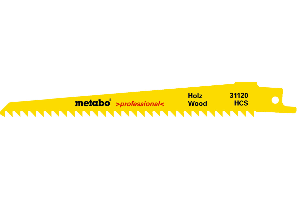 2 Sabre saw blades,wood,profes.,150 x 1.25 mm (631120000)