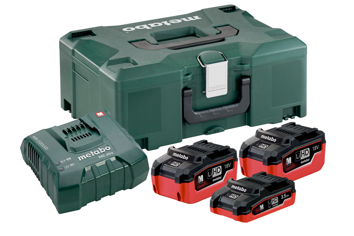 Set básico 2 x LiHD 5,5Ah + LiHD 3,5Ah + ASC Ultra + Metaloc (685116000)