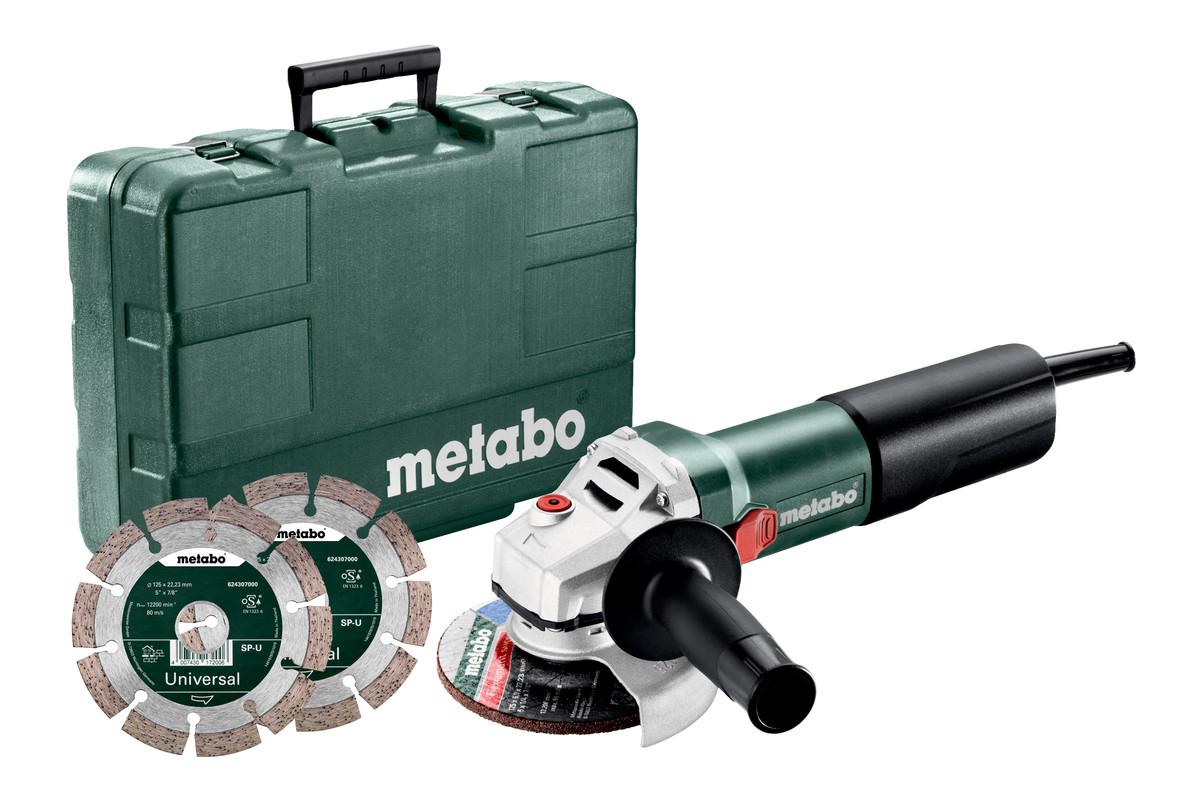 WEQ 1400-125 Set (600347510) Amoladoras angulares