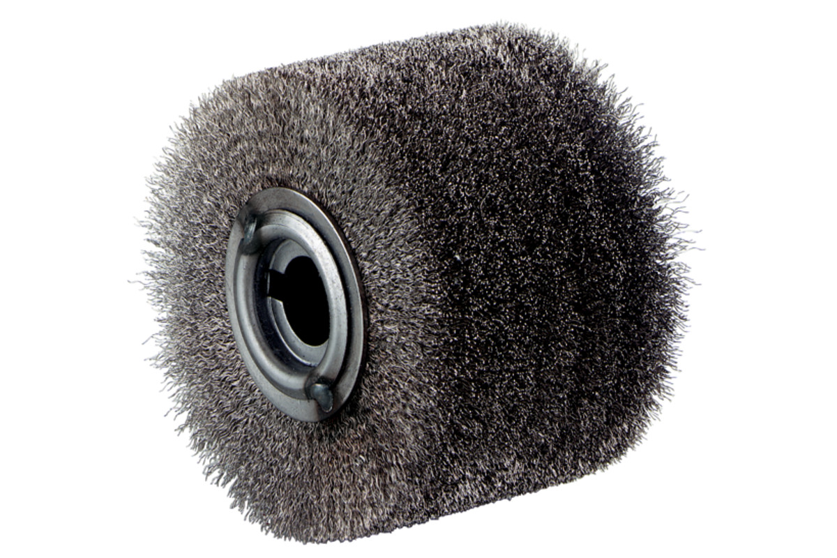 Escova redonda em arame de aço inox 100x70 mm (623503000)
