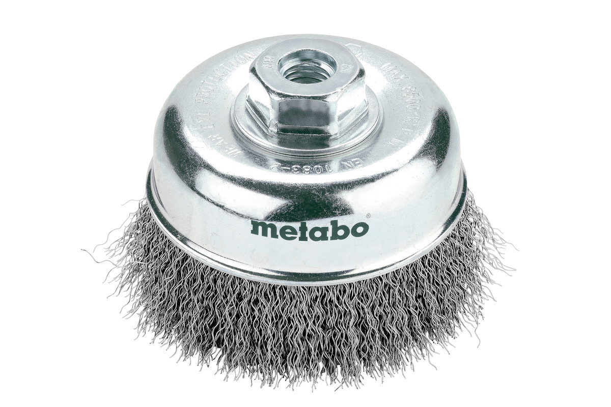 Cup brush 100x0.3 mm/ M 14, steel-wire, crimped (623719000)