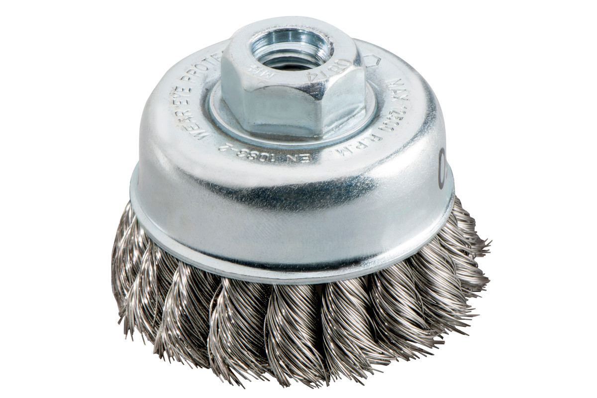 Cup brush 65x0.35 mm/M 14, stainless steel wire, twisted (623801000)