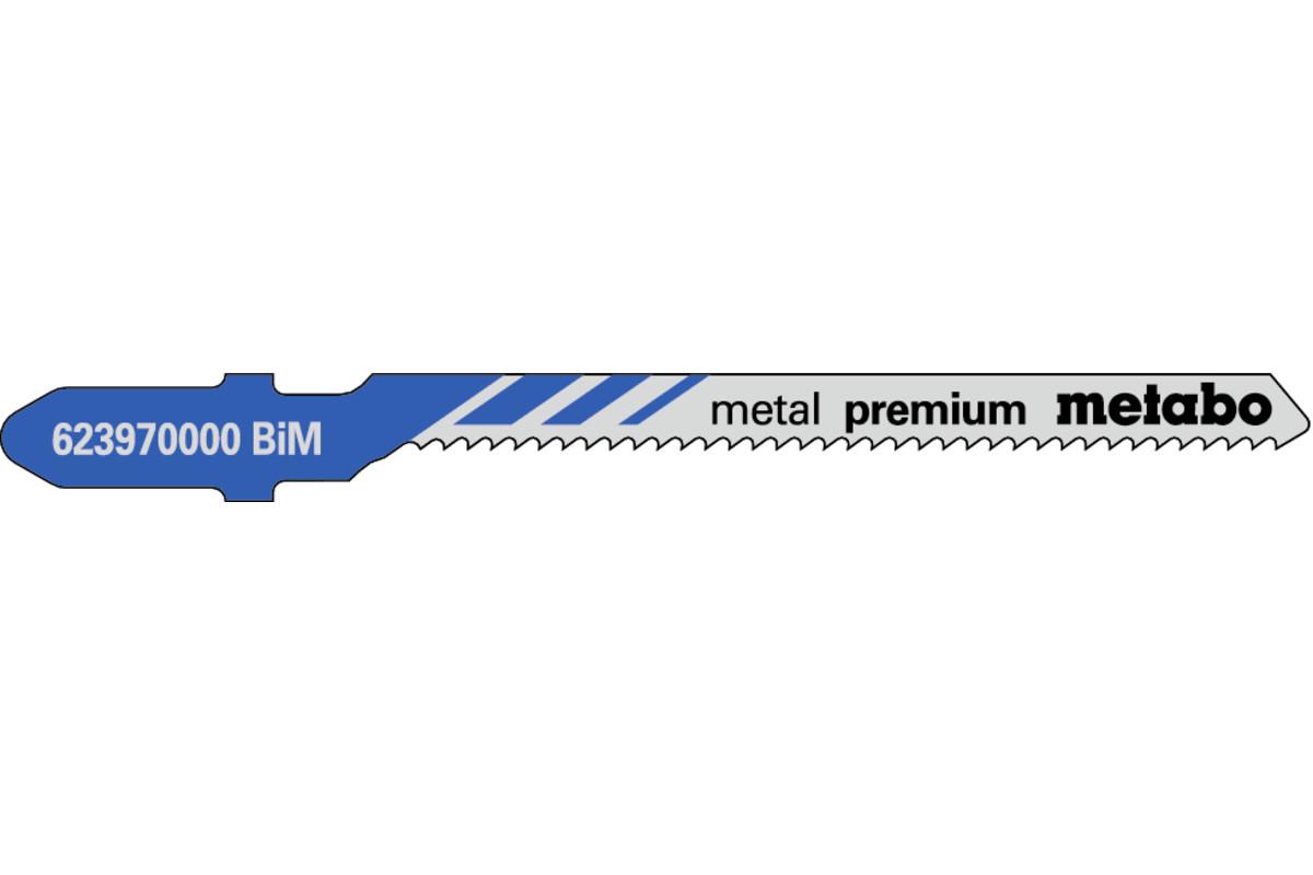 "5 Jigsaw blades ""metal premium"" 57/ 1.5 mm (623970000)"