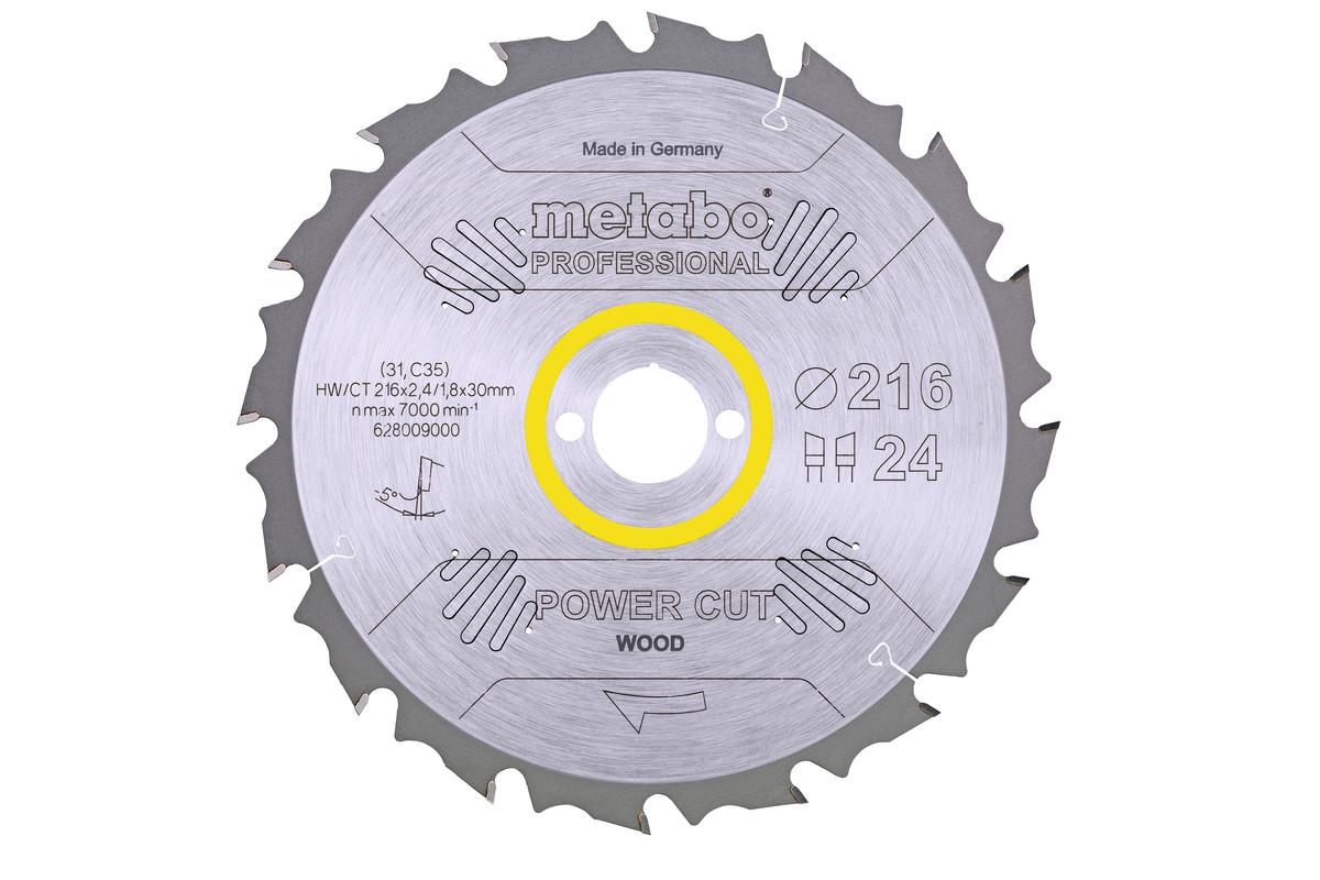 "Lâmina de serra ""power cut wood - professional"", 216x30, Z24 WZ 5° neg. (628009000)"