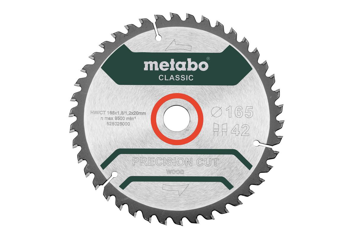 """Saw blade """"precision cut wood - classic"""", 165x20 Z42 WZ 5° (628026000)"""