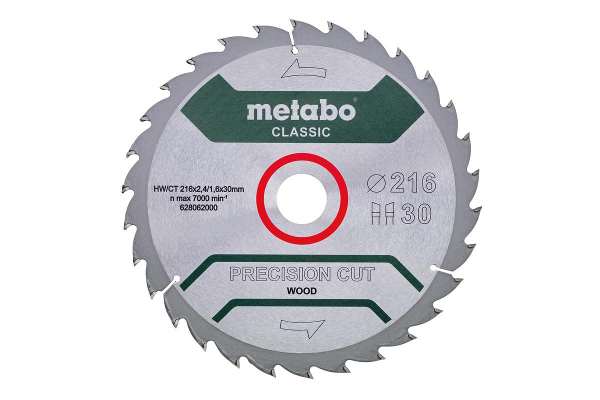"""Lâmina de serra """"precision cut wood - classic"""", 216x30, Z30 WZ 22° (628062000)"""
