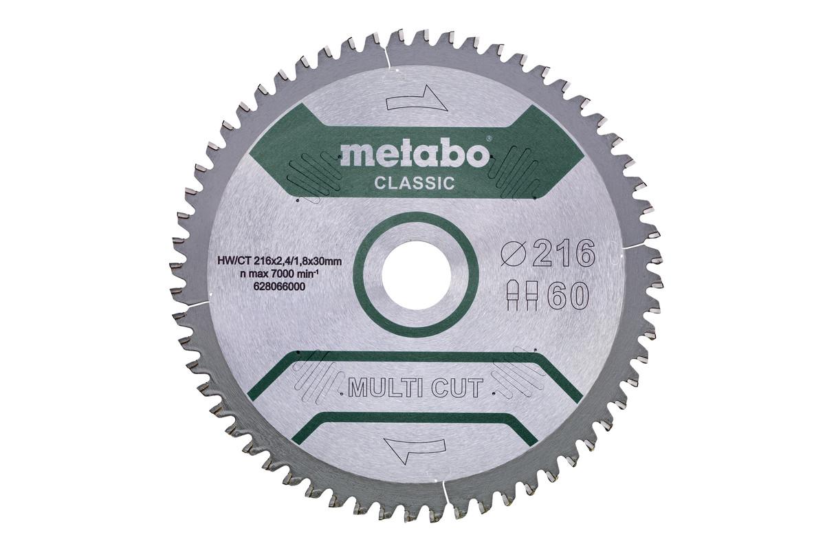 """Saw blade """"multi cut - classic"""", 216x30, Z60 FZ/TZ, 5°neg. (628066000)"""