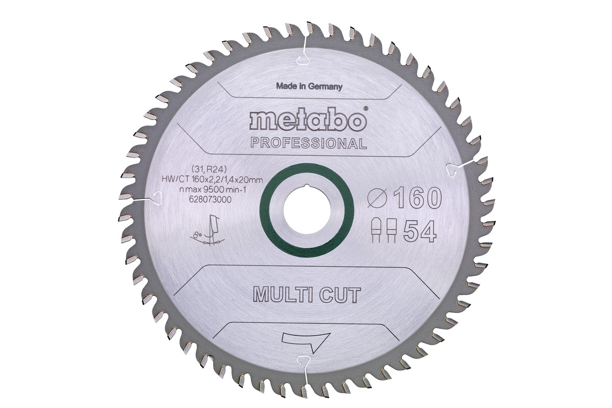"Lâmina de serra ""multi cut - professional"", 152x20, Z54 FZ/TZ 5° neg. (628070000)"