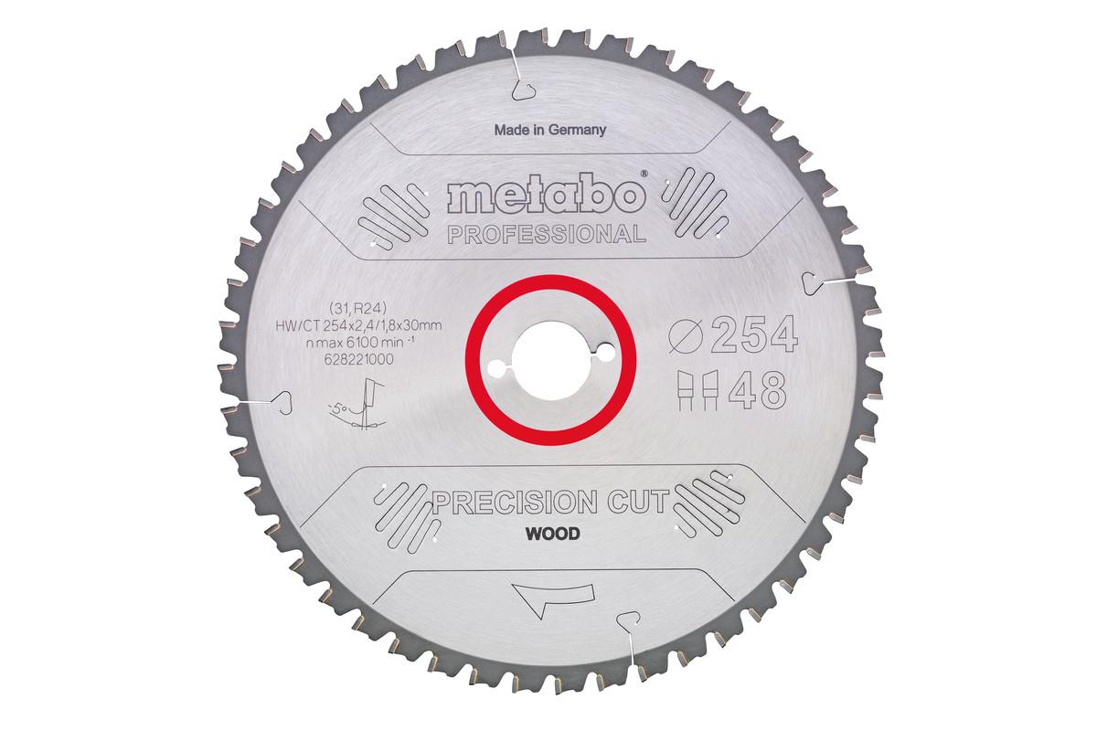 """Saw blade """"precision cut wood - professional"""", 254x30, Z48 WZ 5° neg. (628221000)"""