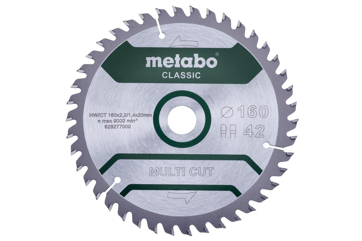 """Saw blade """"multi cut - classic"""", 160x20 Z42 FZ/TZ 5° (628277000)"""