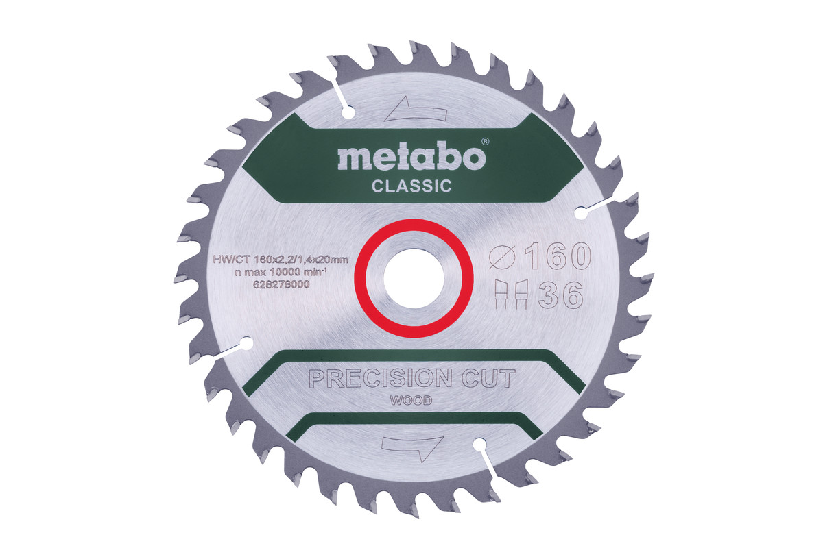 "Saw blade ""precision cut wood - classic"", 160x20 Z36 WZ 10° (628278000)"