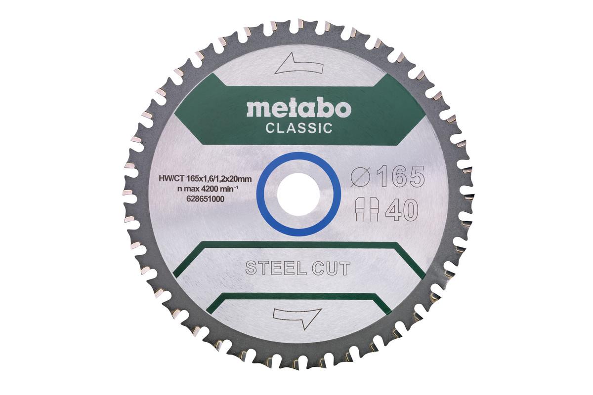 """Hoja de sierra """"steel cut - classic"""", 165x20 D40 DPFA/DPFA 4° /B (628651000)"""