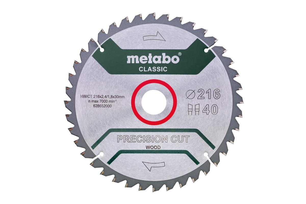 """Lâmina de serra """"precision cut wood - classic"""", 216x30 Z40 WZ 5°neg /B (628652000)"""