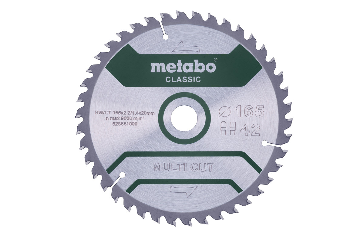 """Saw blade """"multi cut - classic"""", 165x20 Z42 FZ/TZ 5° /B (628661000)"""