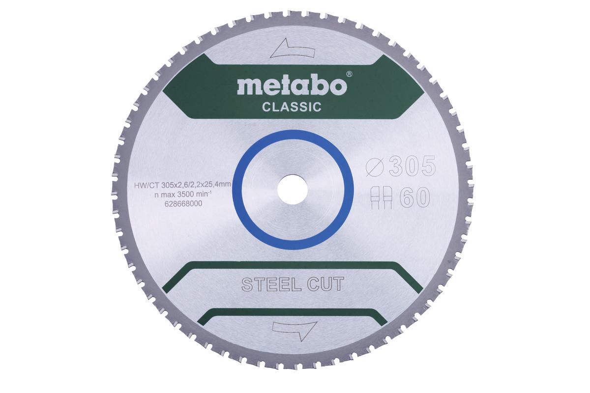 """Hoja de sierra """"steel cut - classic"""", 305x25,4 Z60 DPFA/DPFA 4° (628668000)"""