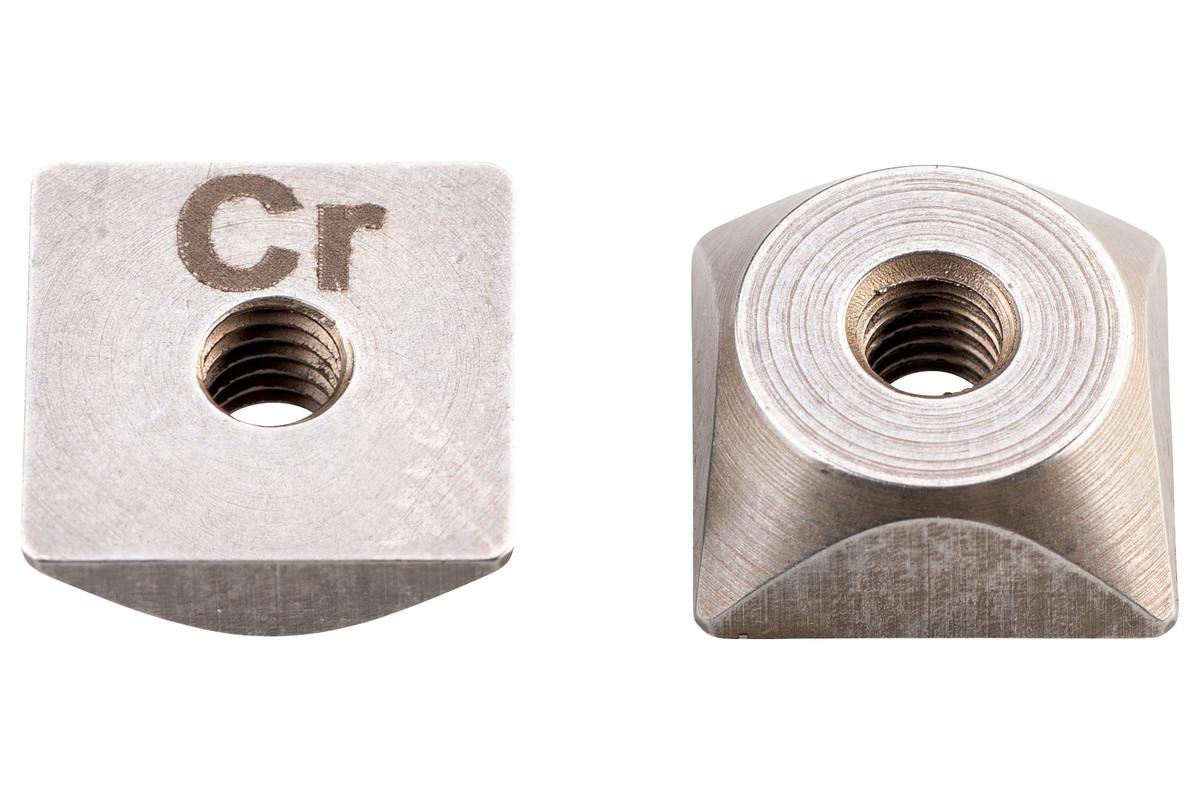 2 Lâminas reversíveis para SCV 18 LTX BL 1.6, aço até 800N/mm² (630241000)