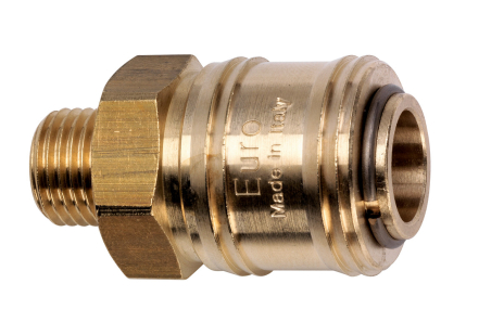 "Quick connection coupling Euro 1/4"" MThr (7802009083)"